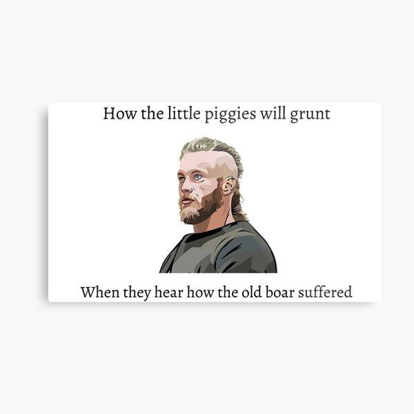 Ragnar Lothbrok Viking Zitat Metallbild