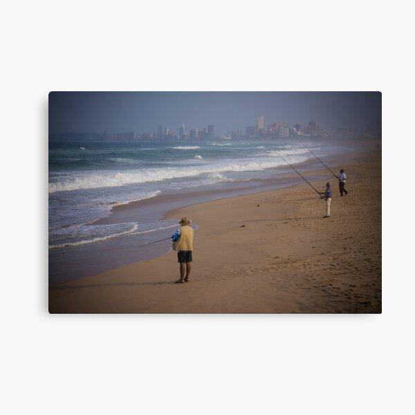Durban Beach Fishing Canvas Print