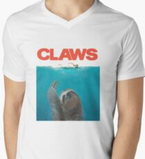 Sloth Claws Parody Men's V-Neck T-Shirt