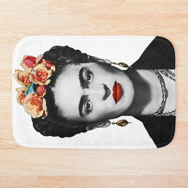 Frida Kahlo Portrait Black And White Bath Mat
