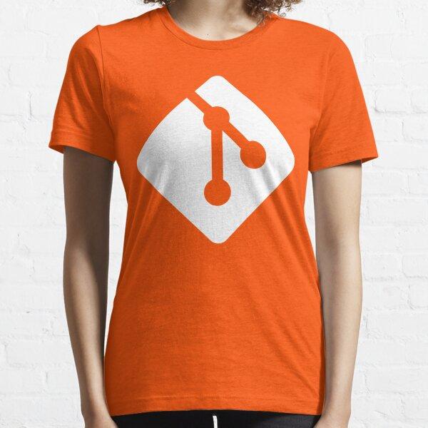Git - White logo Essential T-Shirt