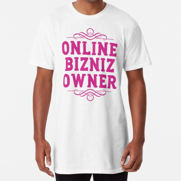 Online Business Owners Pink Long T-Shirt