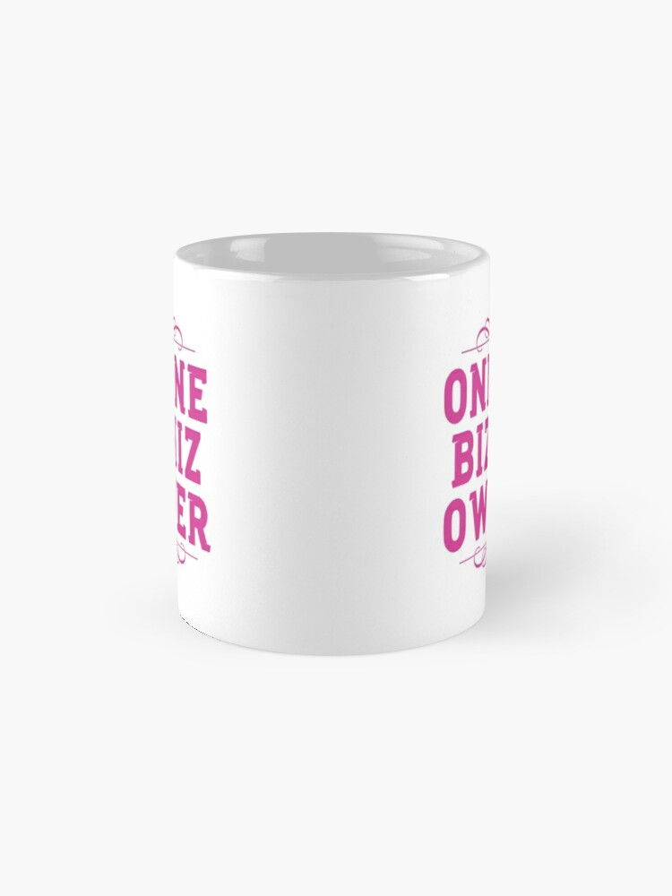 Alternate view of Online Business Owners Pink Mug