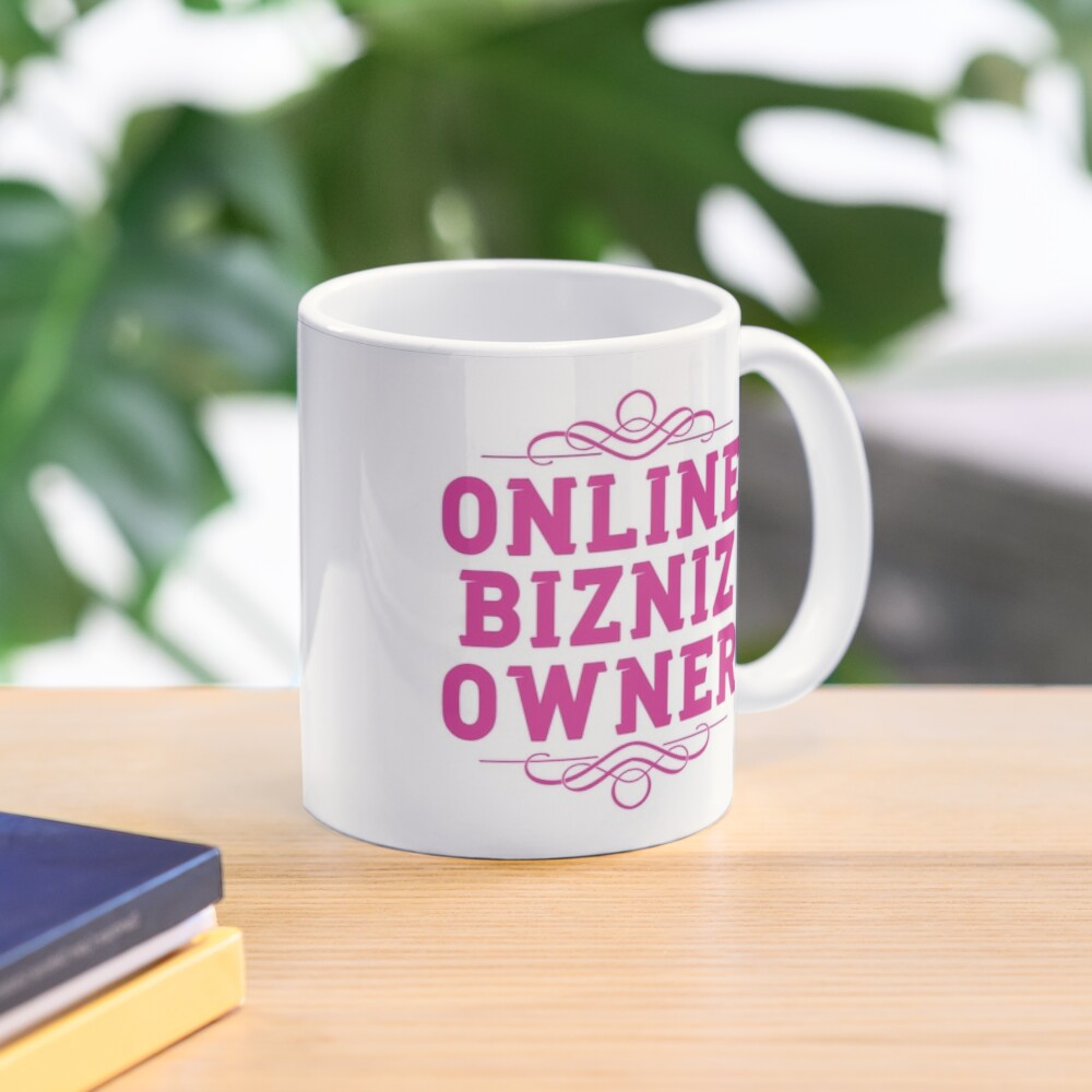 Online Business Owners Pink Mug