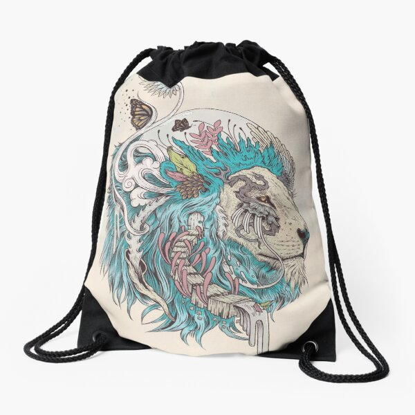 Unbound Autonomy (Blue) Drawstring Bag