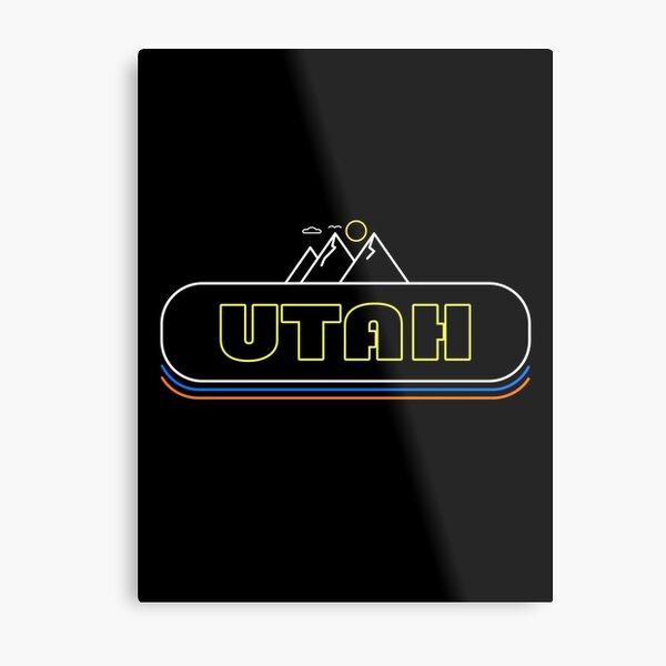 Utah Neon Lights - Souvenir - Gift - Hometown - Hiking - Nature Metal Print