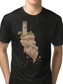 Floating Tower Island Begin Again Tri-blend T-Shirt