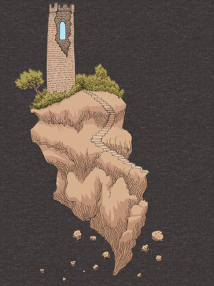 Floating Tower Island Begin Again by SusanSanford