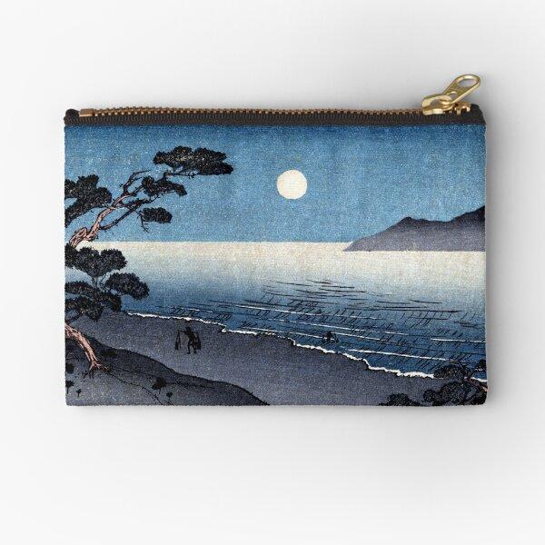 19th C. Moonlit Japanese Beach Zipper Pouch