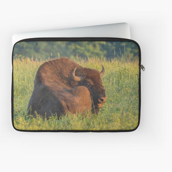 Laughing european bison, also known as wisent Laptop Sleeve