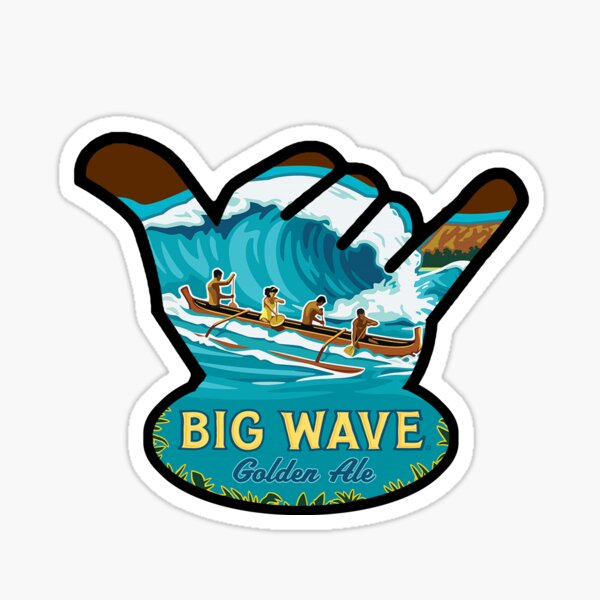 Kona Big Wave Shaka Sticker