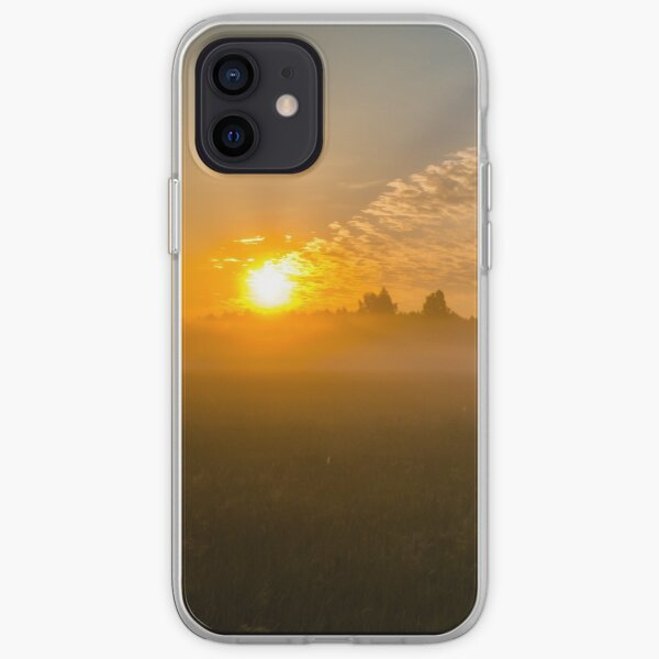 Meteor like sunrise near old forest iPhone Soft Case
