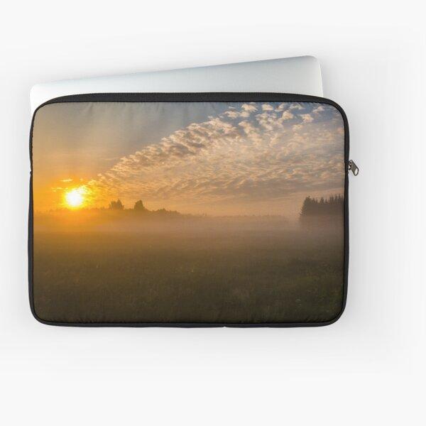 Meteor like sunrise near old forest Laptop Sleeve