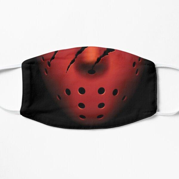 Halloween Hockey Red Face Flat Mask