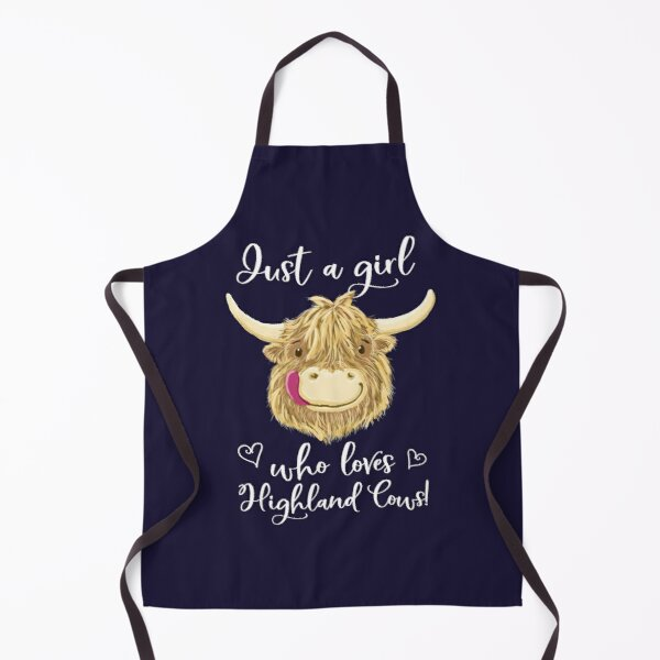 Just A Girl Who Loves Scottish Highland Cows Apron