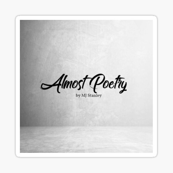 Almost Poetry Logo Sticker