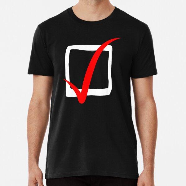 Checkbox On Black Background Premium T-Shirt