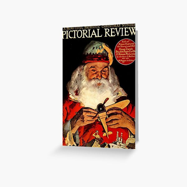 Vintage Santa Pictorial Review Magazine Cover (1918) Greeting Card