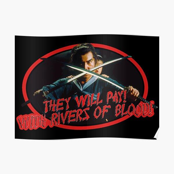80's Samurai Classic Shogun Assassin Rivers of Blood Poster