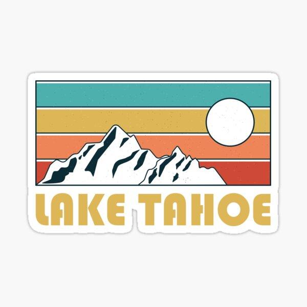 Lake Tahoe Retro Vintage - Lake Tahoe Nevada California Mountain Souvenir - Gift - Hometown - Hiking - Nature Sticker