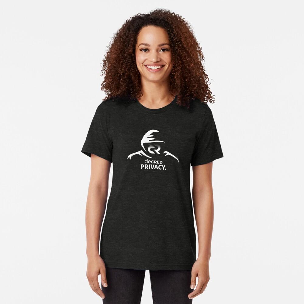 Decred privacy ™ v1 'Design timestamped by https://timestamp.decred.org/' Tri-blend T-Shirt