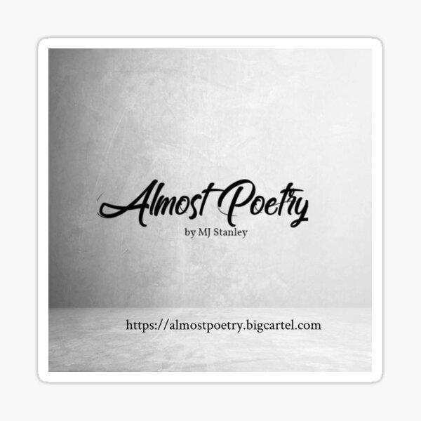 Almost Poetry Logo & Website Sticker