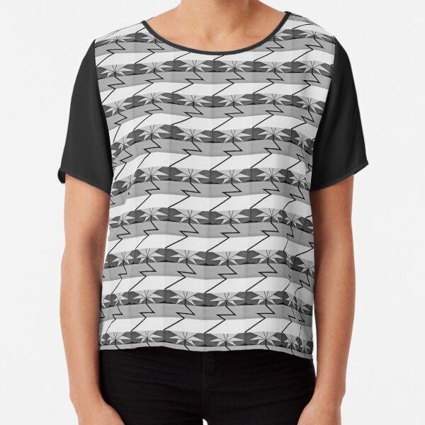 ELECTRIC PALM TREE - Surf Art Design (Black&White) - scroll down Chiffon Top