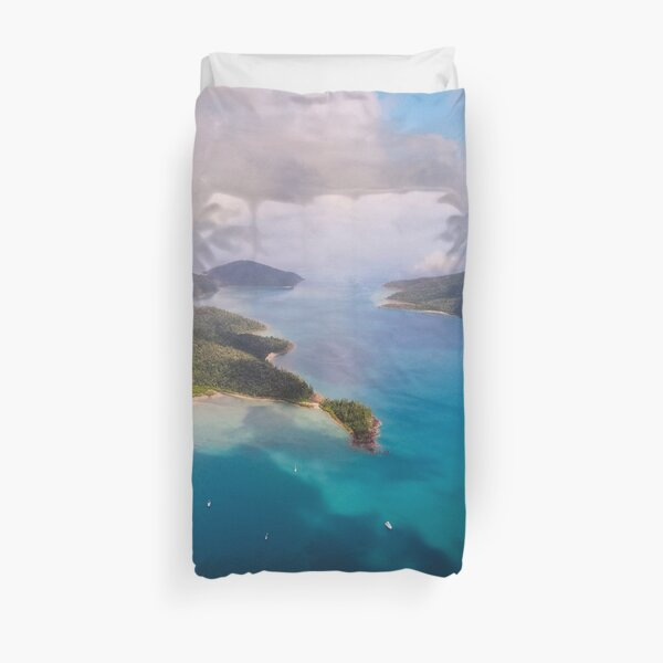Cid Harbour #4 - Whitsunday Islands by drone Duvet Cover