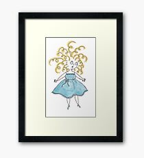 The Chubby Lady Framed Print