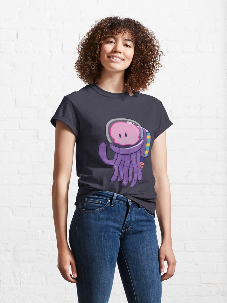 Alternate view of Cosmo the Space Jellyfish Classic T-Shirt