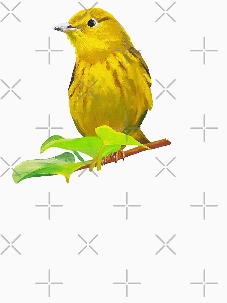 Yellow Warbler bird painting (no background) by EmilyBickell