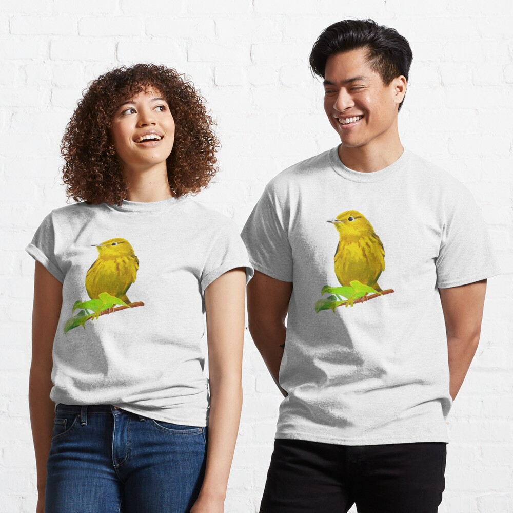 Yellow Warbler bird painting (no background) Classic T-Shirt
