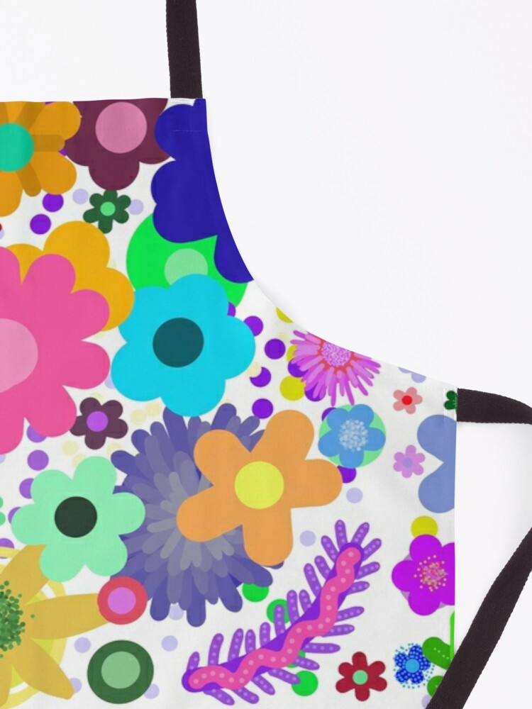 Alternate view of Garden of flowers Apron