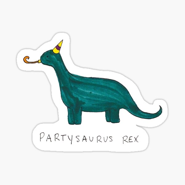 Partysaurus Rex Pegatina