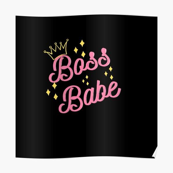 Bossbabe black Poster