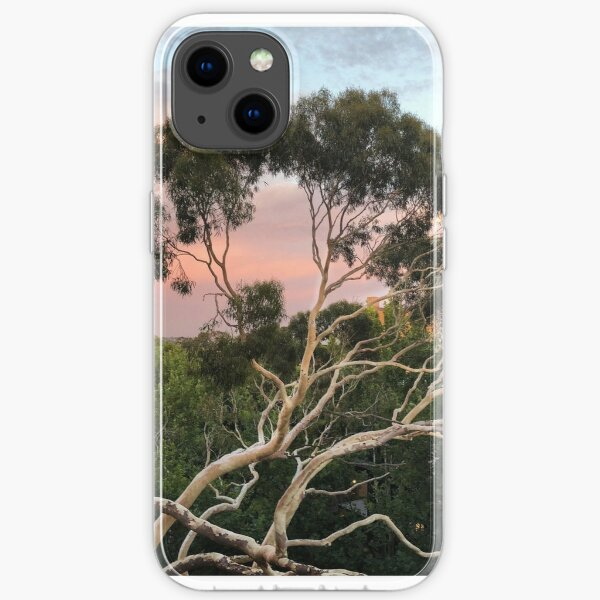 Pink Clouds and Ghost Gum iPhone Soft Case