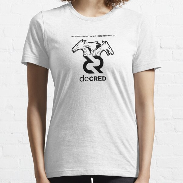 Decred hydra ™ v2 'Design timestamped by https://timestamp.decred.org/' Essential T-Shirt