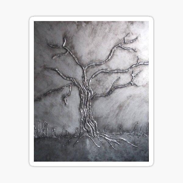 Bare Tree / Silver Black Tree Sticker