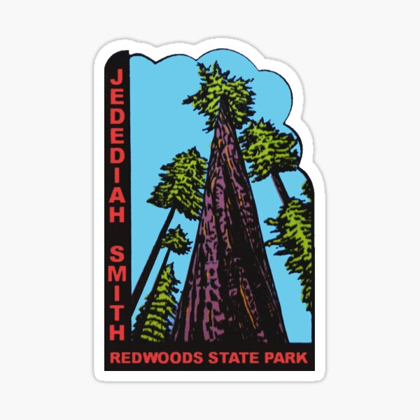 Jedediah Smith Redwoods State Park Vintage Travel Decal Sticker