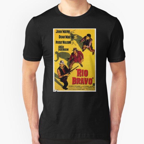 John Wayne The Duke Riding His Horse Dollor Adult T Shirt TV Movies