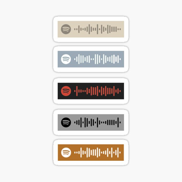 One direction and solo artist Spotify code stickers
