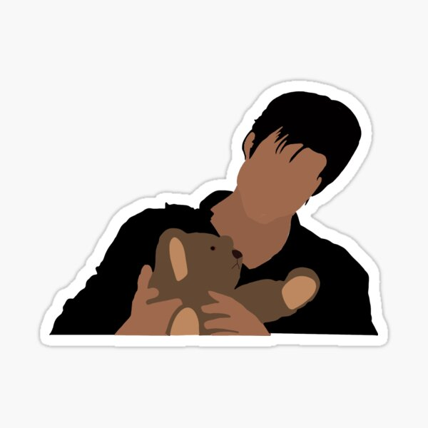 Damon and miss cuddles Sticker