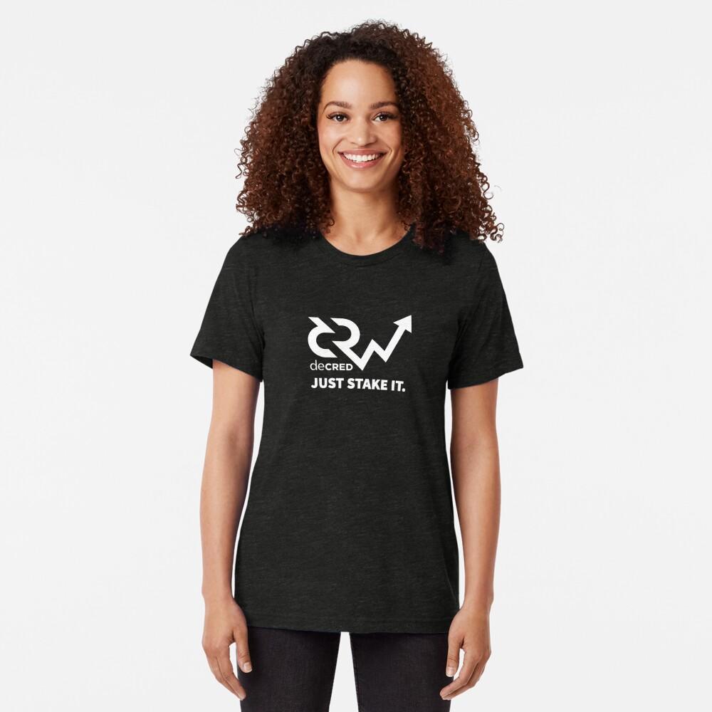 Decred just stake it v1 Tri-blend T-Shirt