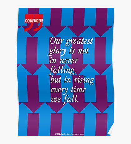 Confucius Inspirational Quote Poster