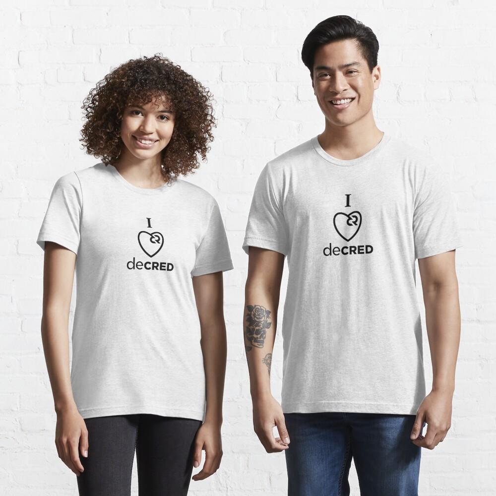 I love Decred ™ v2 'Design timestamped by https://timestamp.decred.org/' Essential T-Shirt