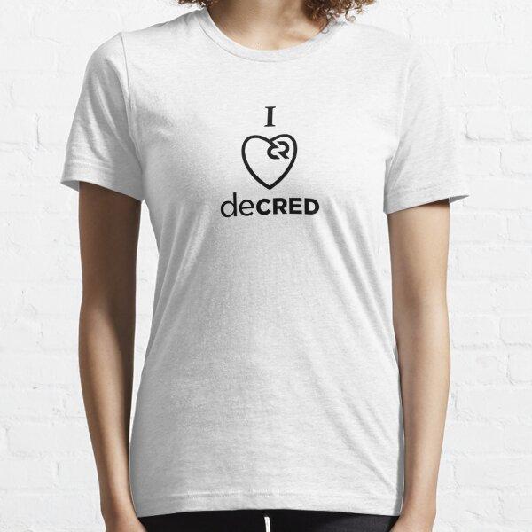 I love Decred v2 Essential T-Shirt