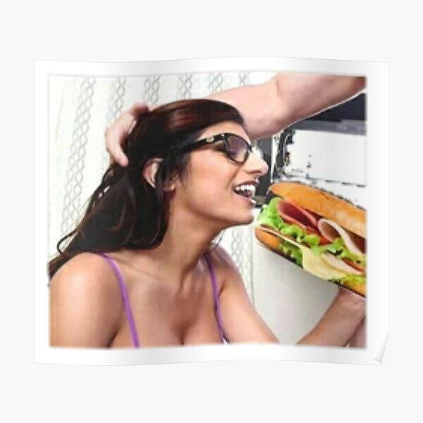 Mia Khalifa having lunch Poster