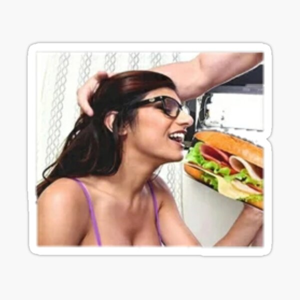 Mia Khalifa having lunch Sticker