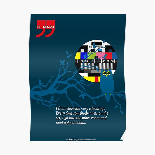 Groucho Marx Quote Poster