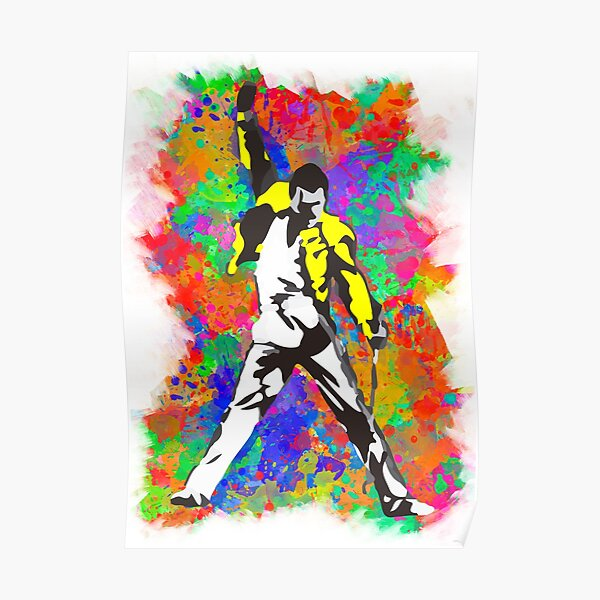 Freddie multicolor Póster